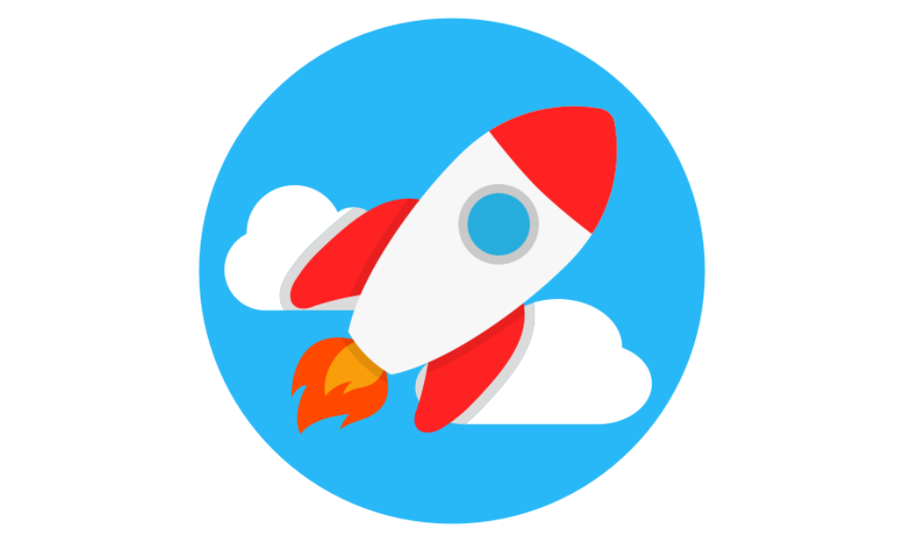 a rocket shooting upwards to represent what good branding can do for your company