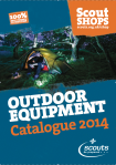 Cover of Scout Shops Outdoor catalogue 2014