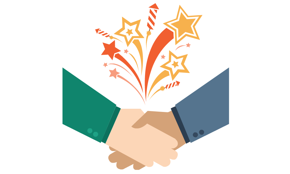 handshake to represent meeting new business connections