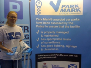 Park Mark - the Safer Parking Scheme - at the Baby Show, Earls Court