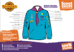 Scout Shops Beavers badge placement flyer